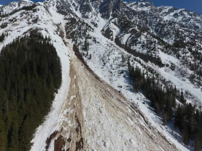 Exploring use of UAVs to map snow deposits