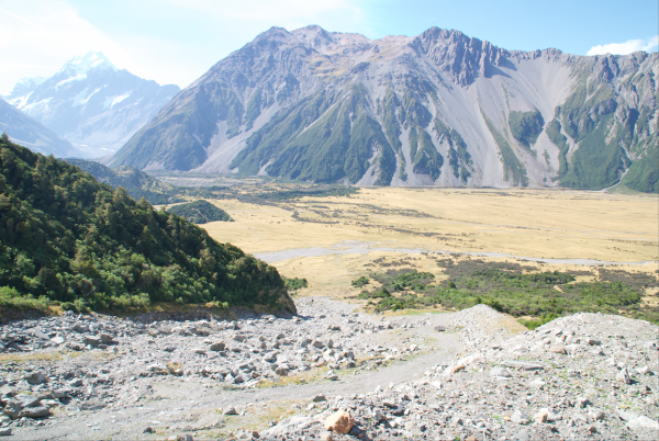 Aoraki Mount Cook National Park, New Zealand, Kitchener Avalanche Path: Concept Design of Avalanche Diversion Berm